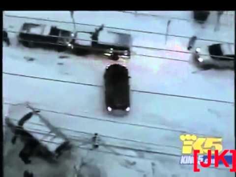 Śmieszny filmik - Jazda po Ulicy Samochodem w Zimę