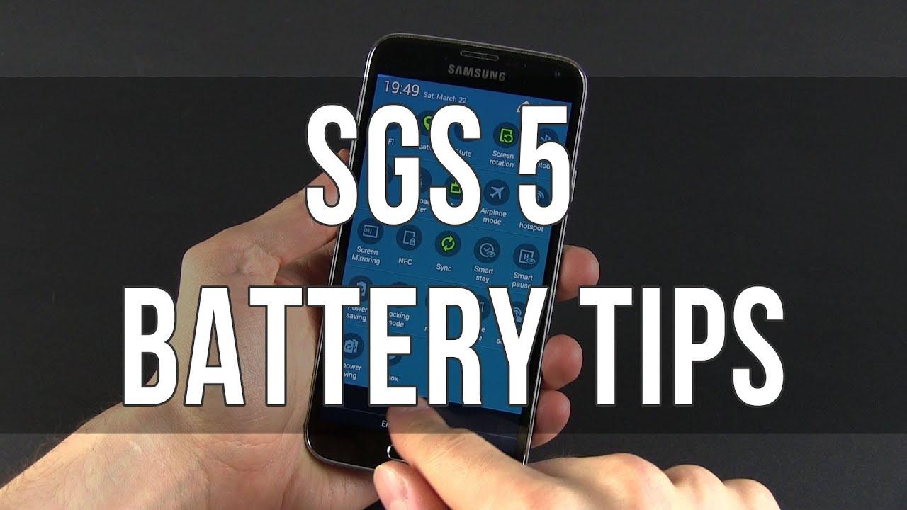 Samsung Galaxy S5 battery saving tips and tricks