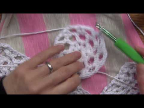 Crochet free form Top - Making Flower Motif Pt 6 of 10