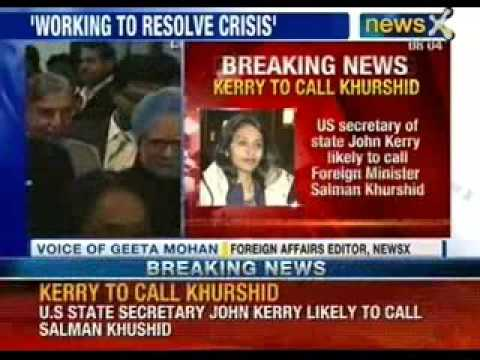 Devyani Khobragade arrest: U.S state secretary John Kerry likely to call Salman Khurshid - NewsX