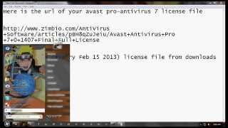 Avast Pro Antivirus 7 License File 100% Working