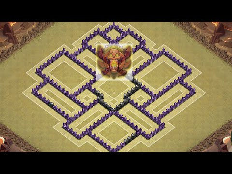Clash of clans th8 southern teaser trophy base defense best th8