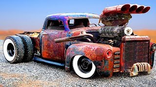 CRAZIEST and POWERFUL CARS & TRUCKS (Detroit Diesel)   CUSTOM HOT RODS and RAT RODS