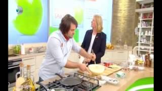 Yemek Takımı 06.11.2013 Çikolatalı Meyveli Pancake Tarifi canlı yapılışı