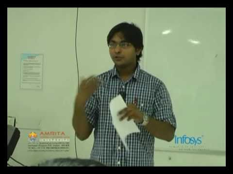 Part 1 of Amrita Infosys Programming Contest Camp 2010
