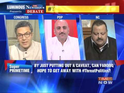 The Newshour Debate: Threat Politics: Did Farooq threaten PDP? - Full Debate (18th April 2014)