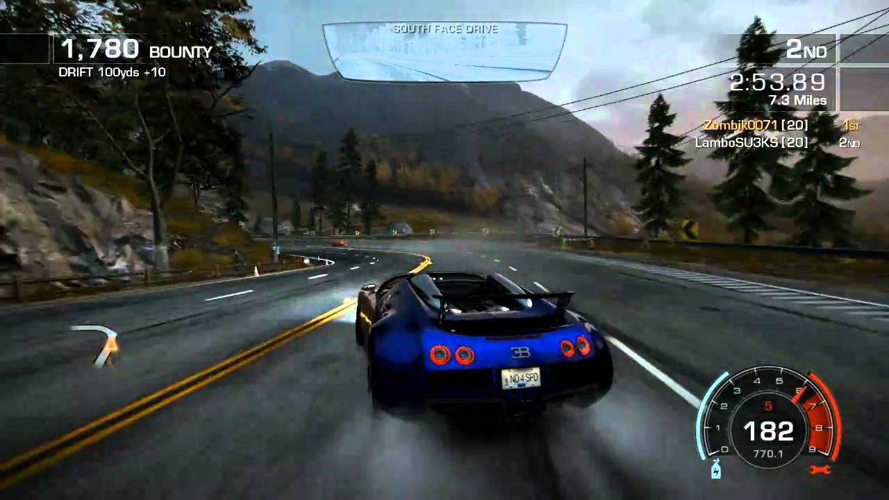 need for speed hot pursuit hd multiplayer duel bugatti. Black Bedroom Furniture Sets. Home Design Ideas