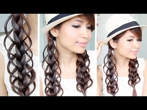 Feather Loop Braid Hair Tutorial Hairstyle   Bebexo