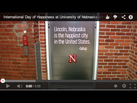 International Day of Happiness at University of Nebraska-Lincoln
