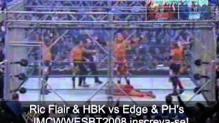 WWE Luta Livre Na TV SBT HBK & Ric Flair Vs Edge & PH's