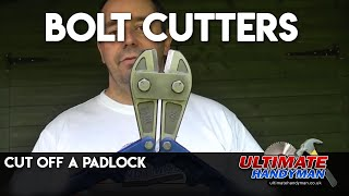 How to use bolt cutters | How to use bolt croppers
