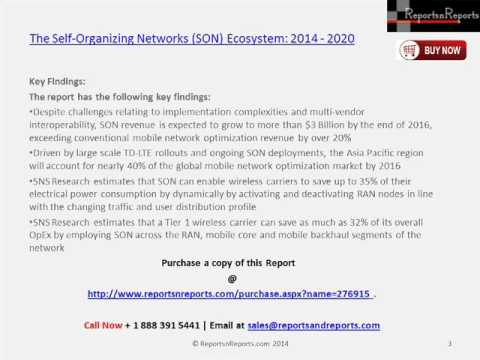 Strategies of Self-Organizing Networks (SON) Ecosystem Market 2020