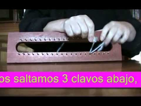 TUTORIAL DIFERENTES PUNTOS EN TELAR MAYA/ different knitting stitches with loom