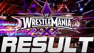 WWE Wrestlemania 30 Daniel Bryan vs Triple H Result
