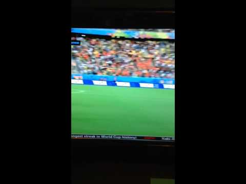 Van Persie diving header goal vs. Spain