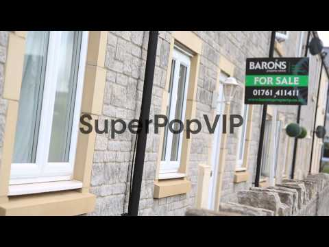 Pull Focus Shot, new houses on a development in Paulton, ...