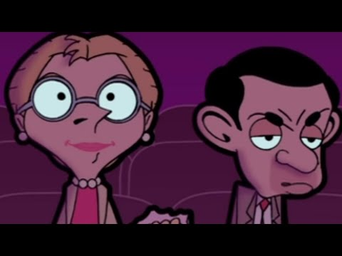 Mr Bean - Watching a Romantic Film -- Mr. Bean sieht einen romantischen Film, Mr Bean watches a romantic film with his girlfriend Irma at the cinema. He gets very bored and eats all of her popcorn. From animated episode Hot Date. Welco...