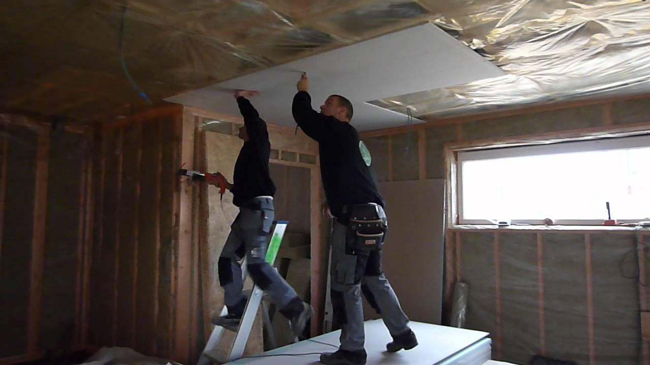 gyproc plafond 4x aba platen plaatsen youtube
