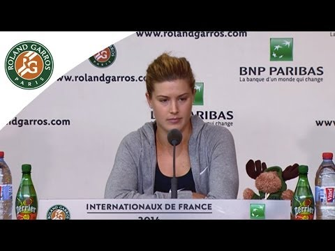 Press conference Eugenie Bouchard 2014 French Open SF
