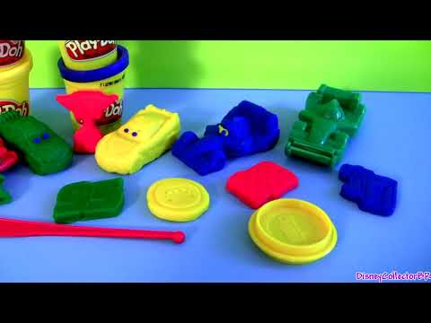 Cars 2 Play-Doh Race Mats World Grand Prix Lightning McQueen Raoul aRoule Disney Pixar play doh