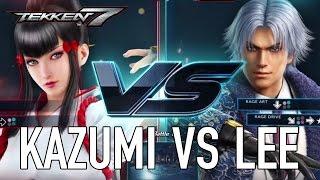 TEKKEN 7 - Kazumi VS Lee Gameplay
