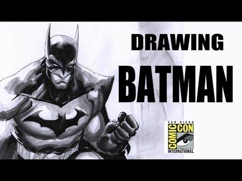 Drawing Batman (with Freddie Williams II)