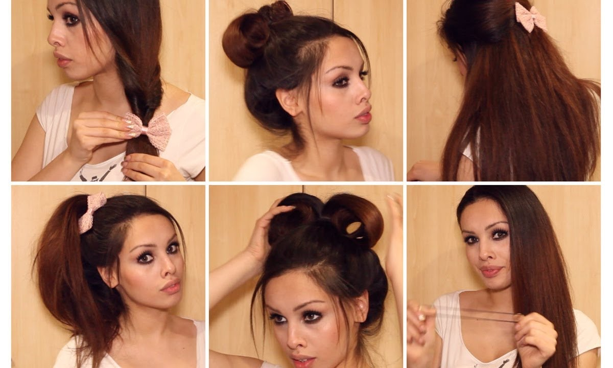 Running Late? Quick & Easy Hairstyles for School ♡ Heatless Tutorial - YouTube