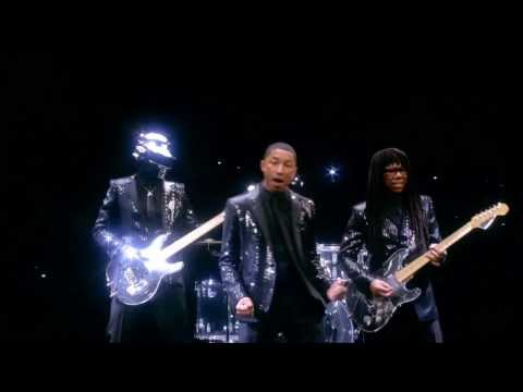 "Daft Punk Pharrell Williams & Stevie Wonder ""Get Lucky"" OFFICIAL Full Video- 56thGrammy 2014"