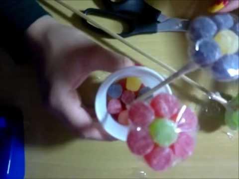 faça vc mesmo flor de bala de goma