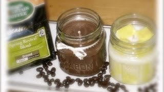 How To Make A Candle With Soy Wax-Homemade Mason Jar