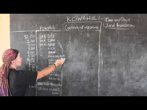 Video #13 - GO! presents: BEST Swahili Tutorials - TIME & DAYS Part 2 (live from Tanzania)