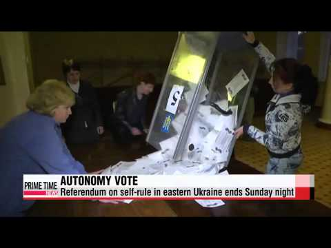 Referendum vote for self-rule ends in eastern Ukraine