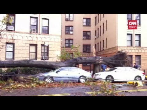Hurricane Sandy leaves trail of damage across the East Coast