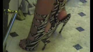7inch Sandals, Mini Skirt & Crop Top 01.wmv