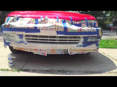 How to paint your Bumper with spray cans.