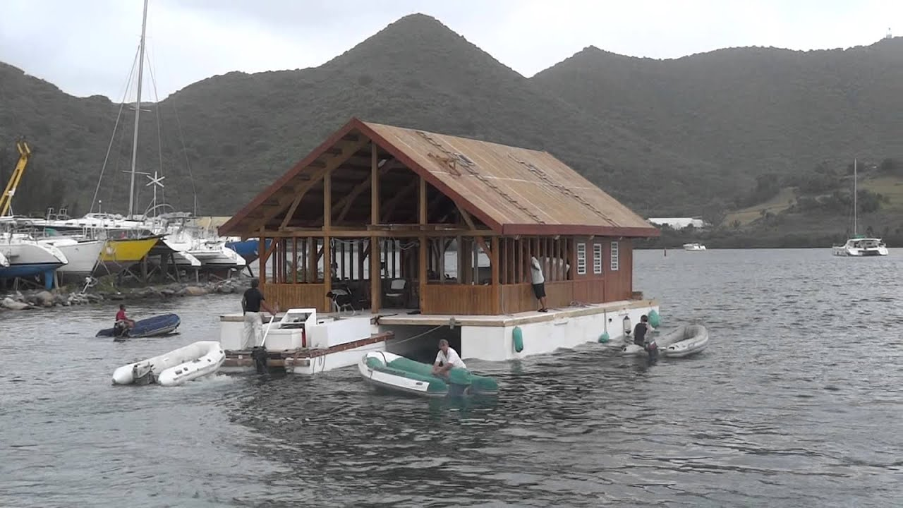 Maison flottante st martin antilles chambres chez l for Maison flottante