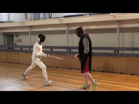 Foil Fencing Lesson Adam Blight & Ayman   5