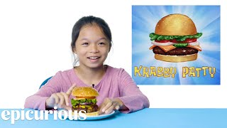 Kids Try Famous Foods From Cartoons, From Spongebob to The Simpsons