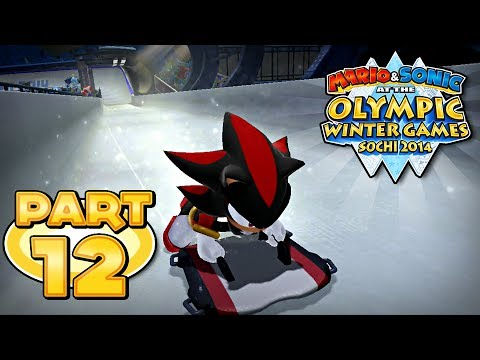 Mario and Sonic at the Sochi 2014 Olympic Winter Games - Part 12 - Skeleton