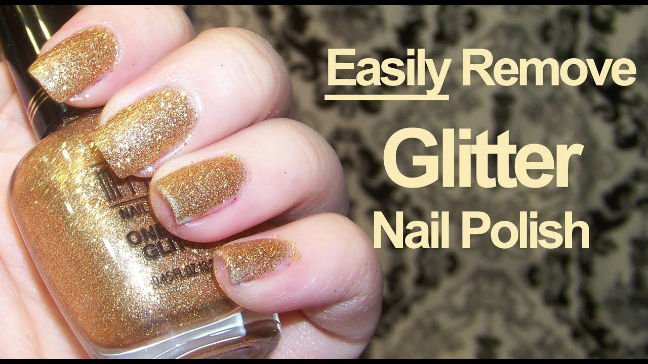 how to easily remove glitter nail polish youtube. Black Bedroom Furniture Sets. Home Design Ideas