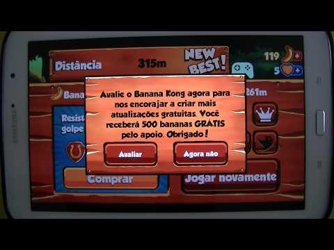 Gameplay Android - Banana Kong - Samsung Galaxy Note 8 N5110 - PT-BR - Brasil