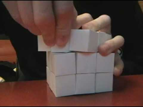 paper mechanics 3 x 3 x 3 rubik 39 s cube youtube. Black Bedroom Furniture Sets. Home Design Ideas