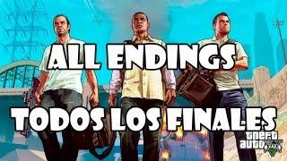 Grand Theft Auto 5 Gameplay Walkthrough TODOS LOS FINALES