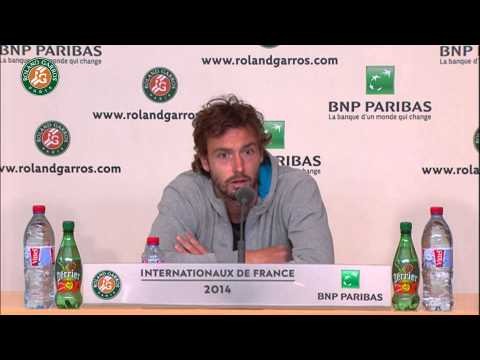 Press conference Ernests Gulbis R4