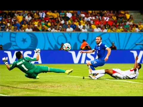 Bryan Ruiz GOAL 1-1 Costa Rica vs Greece 2014 World Cup Finals