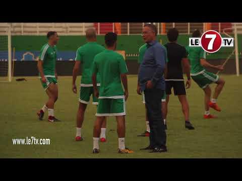 شاهد ما حدث خلال تداريب المنتخب المغربي وأبهر الحاضرين