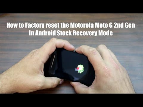 How to Factory reset your Motorola Moto G 2nd Gen device in recovery mode