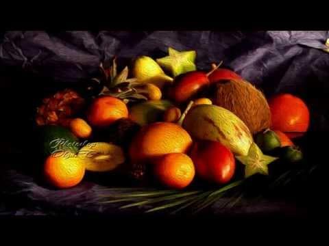 Bodegones de fruta  al óleo.Olga..