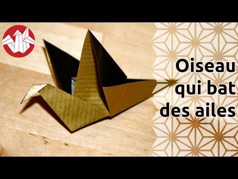 Origami - Oiseau qui bat des ailes