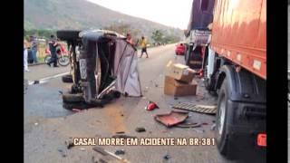 Casal morre em acidente na BR-381, em Tim�teo